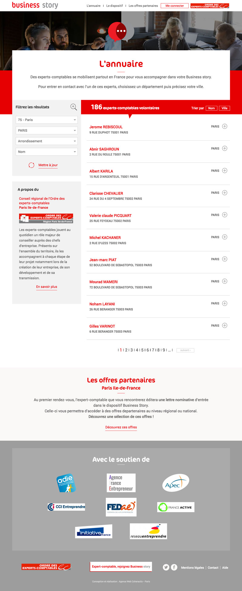 Business Story - Développement site Drupal responsive - Agence Web Paris Coheractio