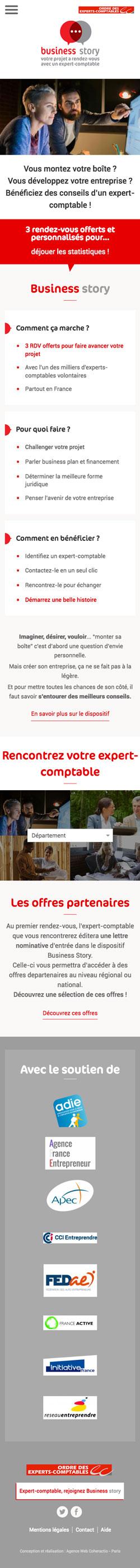 Business Story - Conception site mobile par Agence Web Coheractio