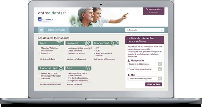 Agence Web Coheractio : Création du site Internet Axa Assistance Entreaidants.fr