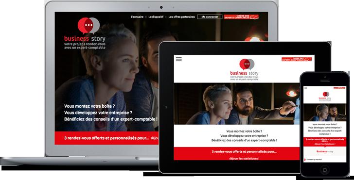Coheractio Agence Web Paris - Conception site Internet responsive pour l'Ordre des Experts Comptables