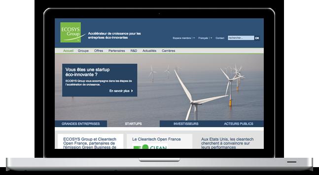 Agence Web Coheractio : Création du site Internet et réseau social Ecosys Group