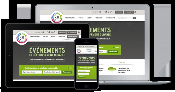 Agence Web Coheractio : Création des sites Internet et site mobile Evénément 3-0