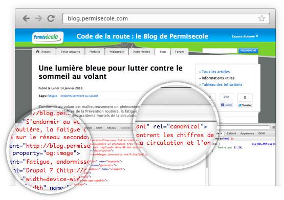 Optimisation d'un site Internet pour le référencement naturel - Cas d'un site Drupal