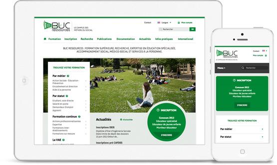 Création sites mobiles - responsive design