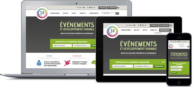 Création sites mobiles - 3 format d'affichage en responsive design